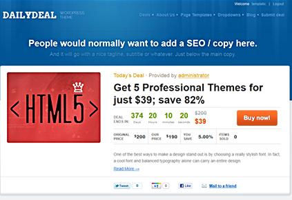 groupon daily deal template Best Groupon Themes