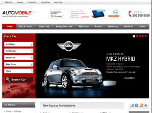 autotrader wordpress template 300x223 Website Clones and Templates