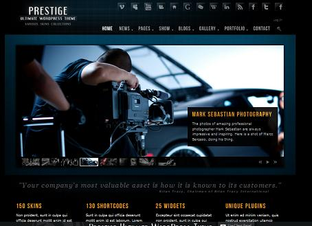 prestige wordpress portfolio Cost to Make a Stunning Photography or Portfolio Website
