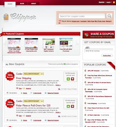 coupon template wordpress Coupon Template   Product Review Clipper Theme to Create Coupon Website