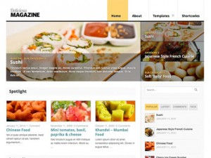 food blog wordpress theme 300x225 Website Clones and Templates