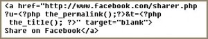 Sharing blogs on Facebook code