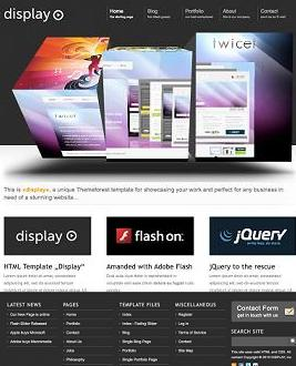 display business website template Best Business Themes