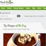 Click to visit Food Recipes Wordpress Theme with Ratings & Reviews