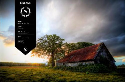 kingsize photography theme fullscreen Website Clones and Templates