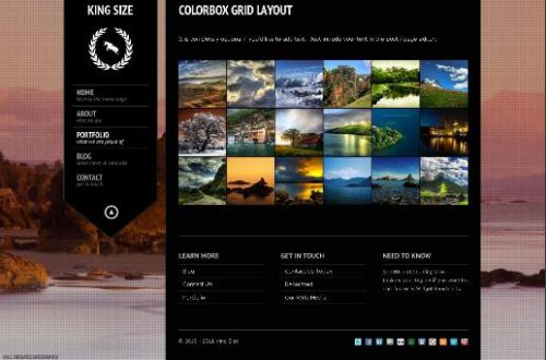 kingsize photography theme grid Cost to Create Photography Website with King Size Template