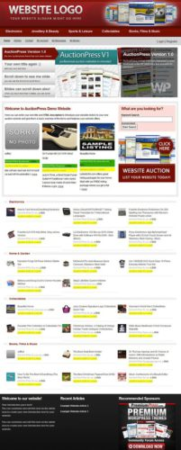 Auction WordPress Theme like Ebay - AuctionPress