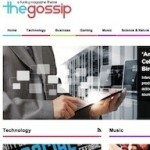 Click to visit Responsive Magazine Wordpress Theme with BuddyPress, Ecommerce - The Gossip