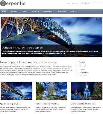 serpentis business template Business Template   Create a Professional Business Website with Serpentis