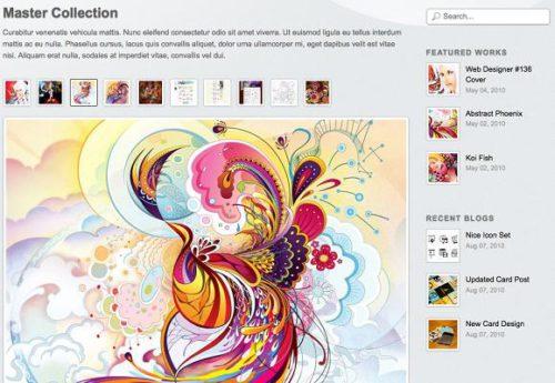blogfolio portfolio photography wordpress template2 Blogfolio Template   Create an Illustrator & Designer Portfolio Website
