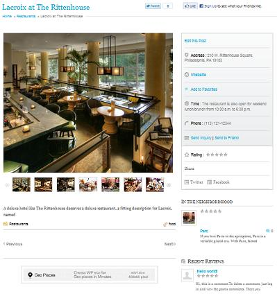 geoplaces restaurant listing Create a New Restaurant with Wordpress GeoPlaces