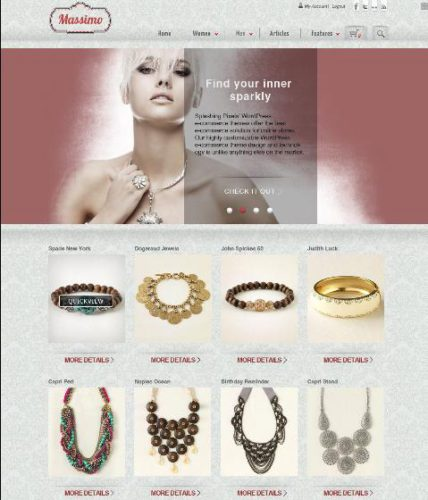 massimo online store template Website Clones and Templates