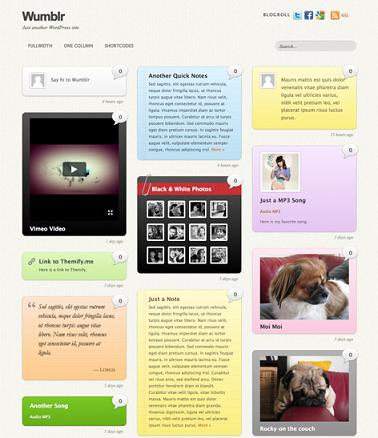 wumblr microblogging wordpress theme Cost to Build Tumblr Website with Wumblr