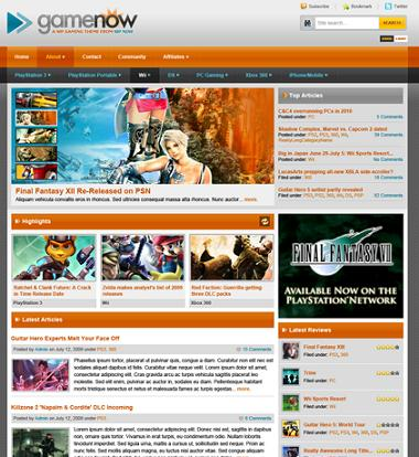 gaming clone template gamenow GameSpot Clone   Create a Gaming Review Website with GameNow