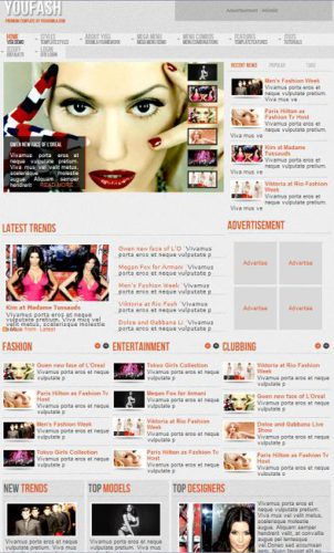 youfash magazine template Best News Themes