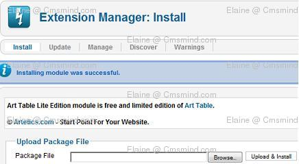 Joomla 17 art table lite extension manager Joomla 1.7 Help   Use SQL to query the Backend Database Directly