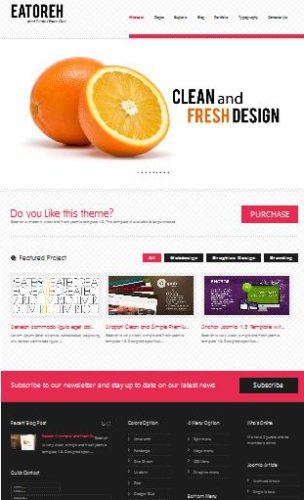 business template joomla eatoreh Website Clones and Templates