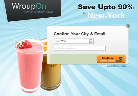 groupon template wroupon email Daily Deals Clone   Create a Daily Deals Website Like Groupon.com with Wroupon
