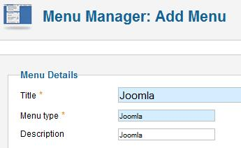 Joomla 1.7 - Add new Menu
