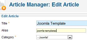 Joomla 1.7 Article Alias