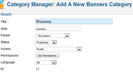 joomla 17 banner manager new category Joomla 1.7 Help   How to add/edit Banners