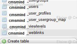 joomla 17 elaine cmsmind phpMyAdmin weblinks Joomla 1.7 Help   Use SQL to query the Backend Database Directly