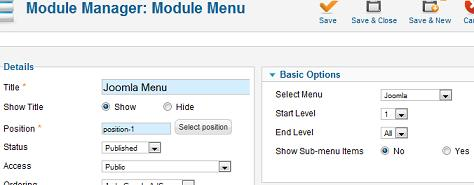 Joomla 1.7 - Create a New Menu Module
