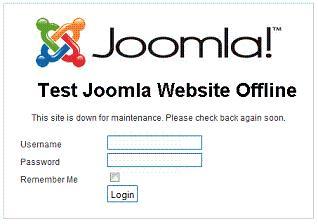 joomla 17 site offline login Joomla 1.7 New Feature   Access to Joomla Site while Offline