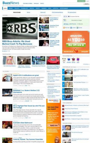 newspaper template buzznews wordpress Website Clones and Templates