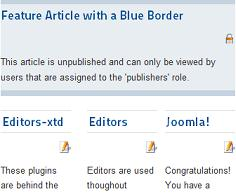 unpublished article showing frontpage joomla 17 Joomla 1.7 Help   Unpublished article showing up on the frontpage in a blue box