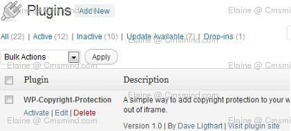 wordpress elaine cmsmind disable right click activate Wordpress Tips   How to Disable Right Click
