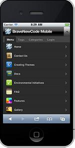 wptouch mobile wordpress menu How to Easily Create a Mobile Platform for your Wordpress Website