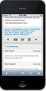 WPtouch WordPress Mobile Single Post
