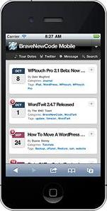 wptouch mobile wordpress How to Easily Create a Mobile Platform for your Wordpress Website