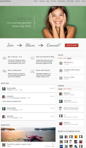 BuddyPress Themes Social Networking Salutation