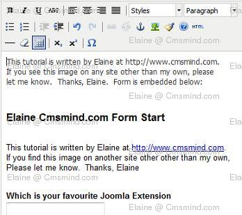 Joomla 17 elaine cmsmind article google forms no errors Joomla 1.7 Help   How to Embed Google Forms into an Article