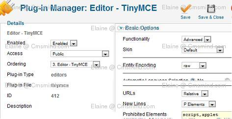 Joomla 17 elaine cmsmind plugin manager tinyMCE Joomla 1.7 Help   How to Embed Google Forms into an Article