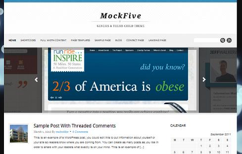 Wordpress Thesis Child Theme MockFive