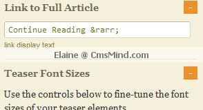 Wordpress cmsmind elaine continue reading setting Wordpress Thesis 1.8 Help   How to Customize the text Read the full article