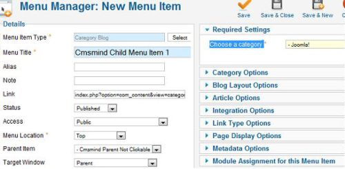 Joomla 1.7 - Parent menu item not clickable - create child menu