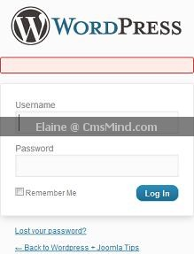 cmsmind elaine wordpress login no error WordPressThesis Security   How to Remove Error on WordPress Login Page