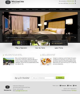hotel template welcome inn cmsmind Cost to Start a Hotel Website with Wordpress   Welcome Inn
