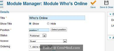 joomla 17 cmsmind elaine module change acl guest only Joomla 1.7   5 Easy Steps to Create Guest Only Access to Menus and Modules
