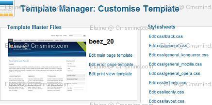 joomla 17 elaine cmsmind edit template css Joomla 1.7 Help   How to Edit Template css files?