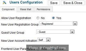 joomla 17 elaine cmsmind user config guest group Joomla 1.7   5 Easy Steps to Create Guest Only Access to Menus and Modules