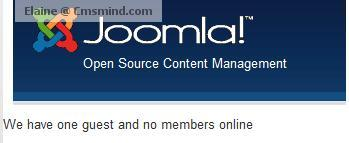 joomla cmsmind elaine guest members Joomla 1.7 Help   How to Customize Whos Online Module