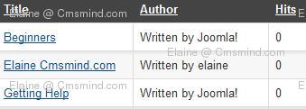 joomla17 elaine cmsmind reset article hits zero Joomla 1.7 Tips   How to Reset Article Hits/Counts