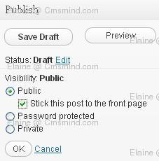 wordpress elaine cmsmind post sticky Wordpress Help   How to Make a Wordpress Post Sticky