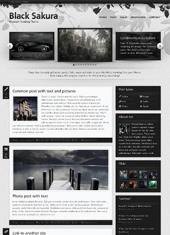 wordpress elaine cmsmind sakura tumblog clone Tumblog Clone   Create Website Like Tumblog with Sakura Wordpress