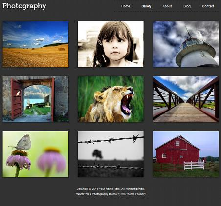 Wordpress Photography Template - Photography